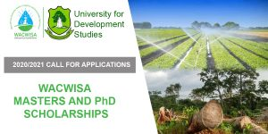 Call for Applications, Masters and PhD Scholarships – 2020/2021