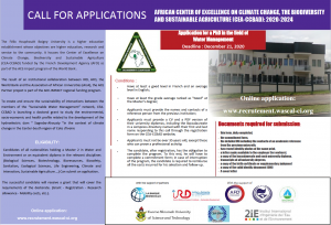 CALL FOR APPLICATIONS – PhD IN THE FIELD OF WATER MANAGEMENT
