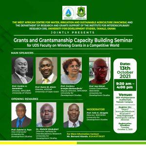 Grants and Grantsmanship Capacity Building Seminar